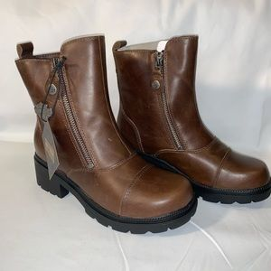 Harley-Davidson brown leather boots